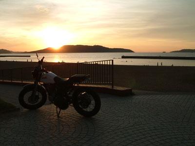 能古島の夕日